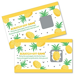 Tropical Pineapple - Summer Party Game Scratch Off Cards - 22 ct