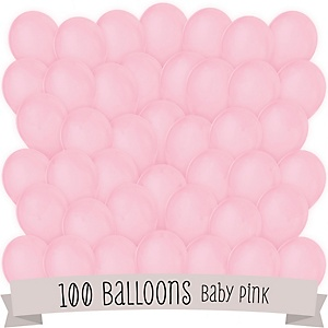 Pink - Party Latex Balloons - 100 ct