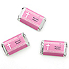 Delicate Pink Cross - Personalized Baptism Mini Candy Bar Wrapper Favors - 20 ct