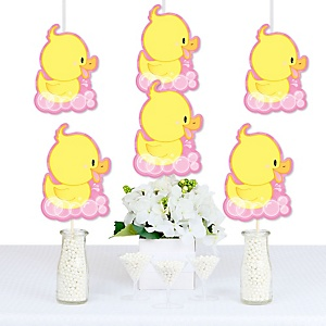 Pink Ducky Duck - Decorations DIY Baby Shower or Birthday Party Essentials - Set of 20
