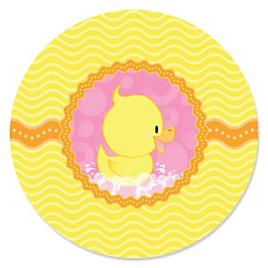 Pink Ducky Duck - Baby Shower Theme