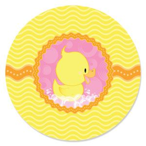 Pink Ducky Duck   Baby Shower Theme