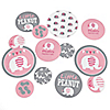 Pink Elephant - Personalized Girl Baby Shower Giant Circle Confetti - Birthday Party Decorations - Large Confetti 27 Count