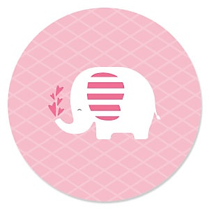 Pink Baby Elephant - Baby Shower Theme