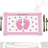 Baby Feet Pink - Personalized Baby Shower Placemats