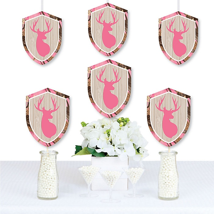 Pink Gone Hunting - Decorations DIY Deer Hunting Girl Camo Party Essentials - Set of 20