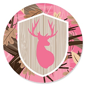 Pink Gone Hunting - Deer Hunting Girl Camo Party Theme