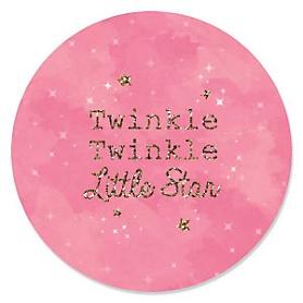 Pink Twinkle Twinkle Little Star - Baby Shower Theme