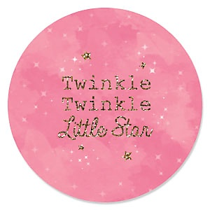 Pink Twinkle Twinkle Little Star - Baby Shower Theme