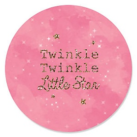 Pink Twinkle Twinkle Little Star - Birthday Party Theme