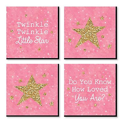 Pink Twinkle Twinkle Little Star - Nursery Decor - 11\
