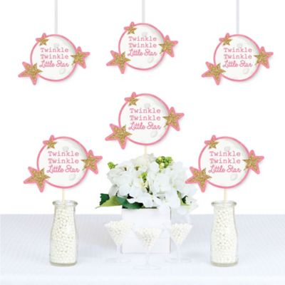 Pink Twinkle Twinkle Little Star Moon and Star Decorations DIY