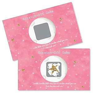 Pink Twinkle Twinkle Little Star - Party Game Scratch Off Cards - 22 ct