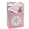 Pink Winter Wonderland - Holiday Snowflake Birthday Party and Baby Shower Gift Favor Boxes - Set of 12
