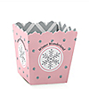 Pink Winter Wonderland - Holiday Snowflake Birthday Party and Baby Shower Treat Candy Boxes - Set of 12