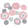 Pink Winter Wonderland - Holiday Snowflake Birthday Party and Baby Shower Table Confetti - 27 ct