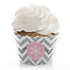 Pink Winter Wonderland - Holiday Snowflake Birthday Party and Baby Shower Decorations - Party Cupcake Wrappers - Set of 12
