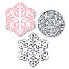 Pink Winter Wonderland - DIY Shaped Holiday Snowflake Birthday Party and Baby Shower Paper Cut-Outs - 24 ct