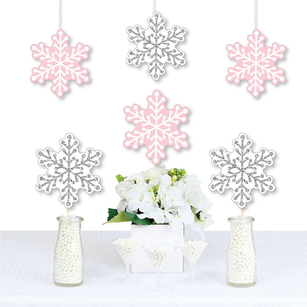 Pink Winter Wonderland Snowflake Decorations Diy Holiday Snowflake