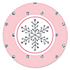 Pink Winter Wonderland - Holiday Snowflake Birthday Party and Baby Shower Sticker Labels - 24 ct