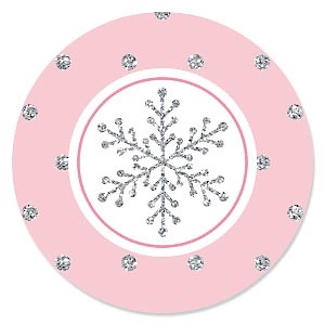 Pink Winter Wonderland - Snowflake Holiday Birthday Party and Baby Shower Theme