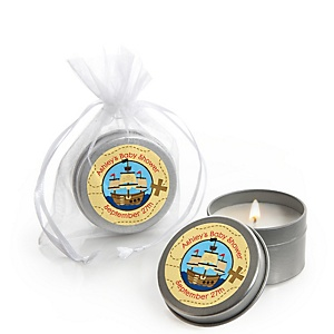 It's A-Boy Mates! Pirate  - Personalized Baby Shower Candle Tin Favors - Set of 12