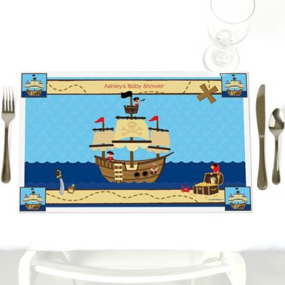 Pirate   Personalized Baby Shower Placemats
