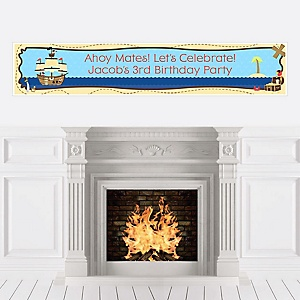 Ahoy Mates! Pirate - Personalized Birthday Party Banners