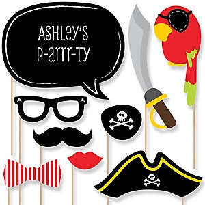 It's A-Boy Mates! Pirate - Baby Shower Photo Booth Props Kit - 20 Props