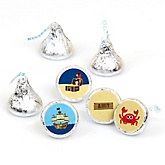 Ahoy Mates! Pirate - Round Candy Labels Party Favors - Fits Hershey's Kisses - 108 ct