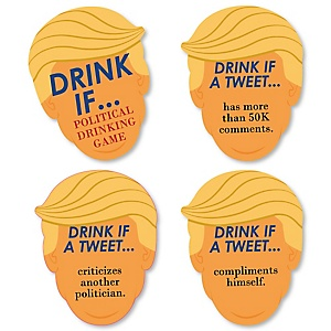 Drink If Game - Political Drinking Game - Politically Incorrect Presidential Party Game - 24 Count