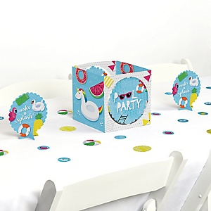 Make A Splash - Pool Party - Summer Swimming Party or Birthday Party Centerpiece and Table Decoration Kit