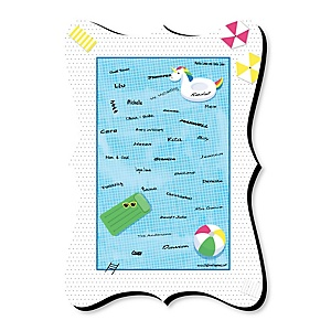 Make A Splash - Pool Party - Unique Alternative Guest Book - Summer Swimming Party or Birthday Party Signature Mat