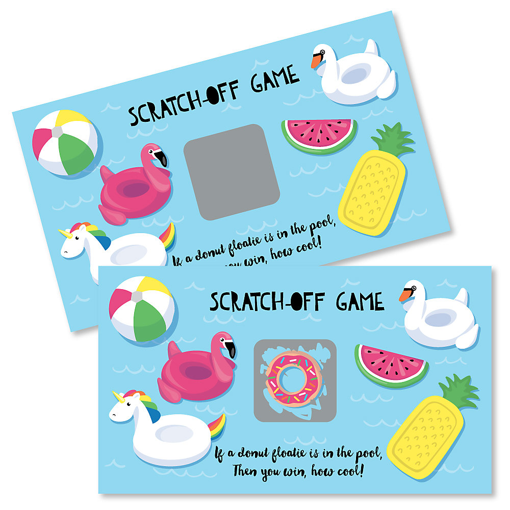 Make A Splash Pool Party Summer Swimming Party Or Birthday Party Game Scratch Off Cards 22 Count