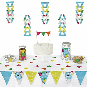 Make A Splash - Pool Party -  Triangle Summer Swimming Party or Birthday Party Decoration Kit - 72 Piece