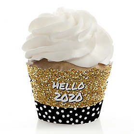 Pop, Fizz, Clink! - 2020 New Year's Eve Party Decorations - Party Cupcake Wrappers - Set of 12