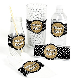 Pop, Fizz, Clink! - DIY 2019 New Year's Eve Holiday Party Wrapper - 15 ct