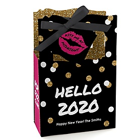 Pop, Fizz, Clink! - Personalized 2020 New Year's Eve Party Favor Boxes - Set of 12
