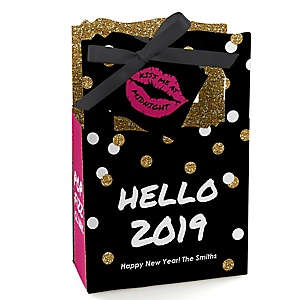 Pop, Fizz, Clink! - Personalized 2019 New Year's Eve Party Favor Boxes - Set of 12