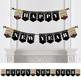 Pop, Fizz, Clink! - Personalized 2020 New Year's Eve Party Bunting Banner & Decorations