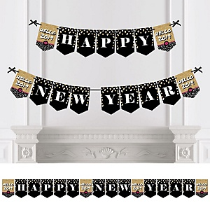 Pop, Fizz, Clink! - Personalized 2019 New Year's Eve Party Bunting Banner & Decorations