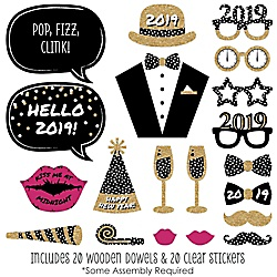 New Years Photo Prop Kits New Years Eve Holiday