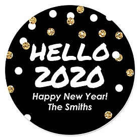 Pop, Fizz, Clink! - 2020 New Year's Eve Party Sticker Labels - 24 ct