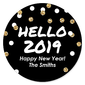 Pop, Fizz, Clink! - 2019 New Year's Eve Party Sticker Labels - 24 ct