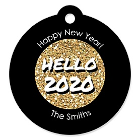 Pop, Fizz, Clink! - 2020 New Year's Eve Party Tags - 20 ct