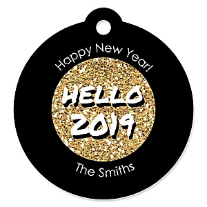 Pop, Fizz, Clink! - 2019 New Year's Eve Party Tags - 20 ct