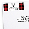 Prancing Plaid - 30 Personalized Buffalo Plaid Holiday Return Address Labels