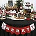 Prancing Plaid - Merry Christmas Bunting Banner & Buffalo Plaid Decorations