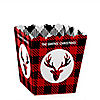 Prancing Plaid - Party Mini Favor Boxes - Personalized Christmas & Holiday Buffalo Plaid Party Treat Candy Boxes - Set of 12