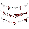 Prancing Plaid - Reindeer Holiday & Christmas Party Letter Banner Decoration - 36 Banner Cutouts and Merry Christmas Banner Letters
